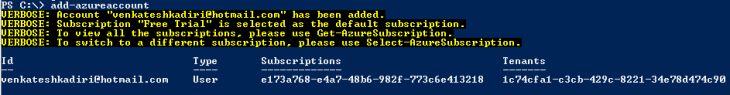 Add-AzureAccount
